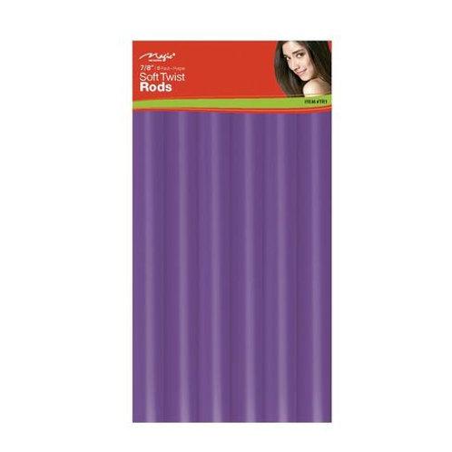 "Magic Soft Twist Rollers 7/8"" Purple"