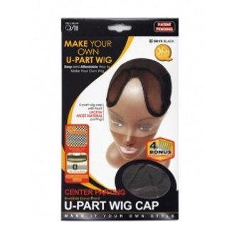 Qfitt Center Parting Invisible Lace Front U-Part Wig Cap #5015