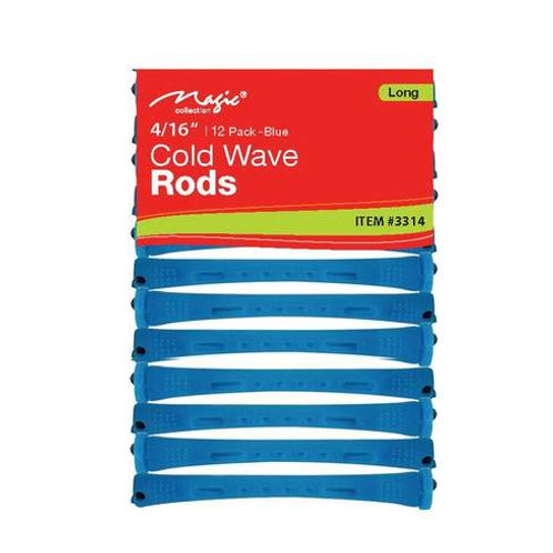 "Magic Cold Wave Rods 4/16"" Blue - Long"