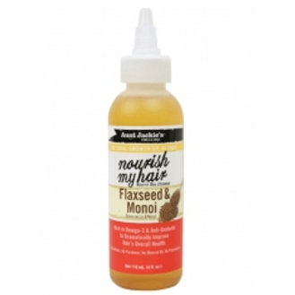 Aunt Jackie's Growth Oil Nourish My Hair Flaxseed & Monoi Oil 4 oz