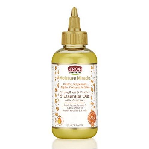 African Pride Moisture Miracle Oil Essential 5 Vitamin Oil, 4oz