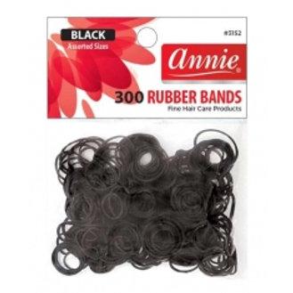 Annie Black Rubber Bands 300 ct