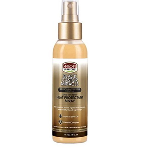 African Pride Black Castor Miracle Anti-Humidity Heat Protectant Spray