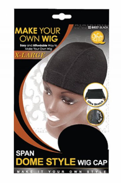 QFitt Span Dome Style Wig Cap X-Large 5027 Black