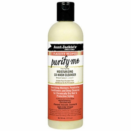 Aunt Jackie's Flaxseed Collection Purify Me Moisturizing Co-Wash Cleanser 12 oz