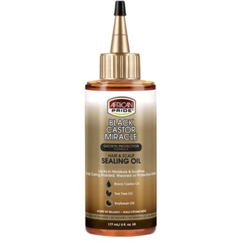 African Pride Black Castor Miracle Hair & Scalp Sealing Oil, 6 Oz
