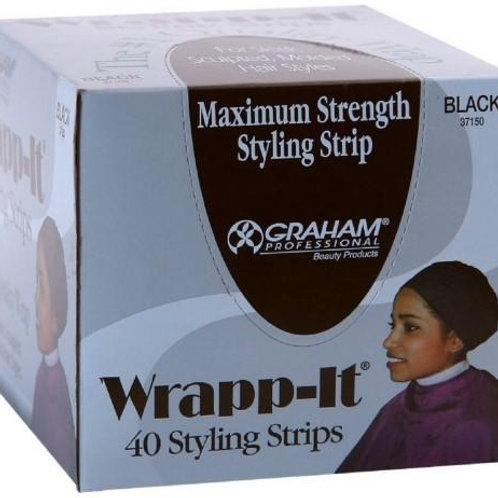 GRAHAM WRAPP-IT MAXIMUM STRENGTH STYLING WRAP, BLACK 40CT