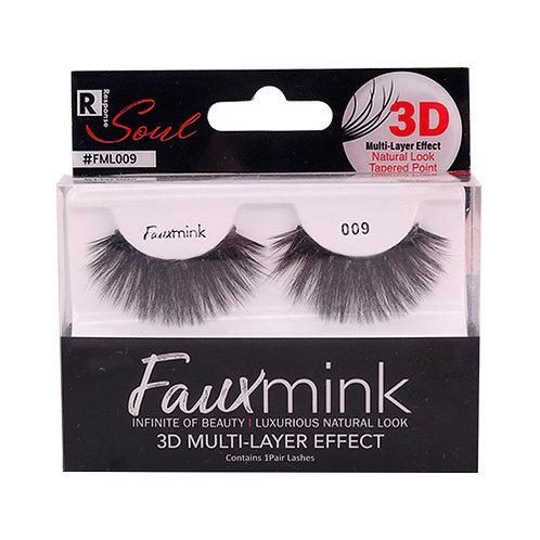RESPONSE  3D Faux Mink Lashes 009 Black