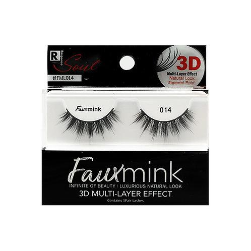 RESPONSE  3D Faux Mink Lashes 014 Black