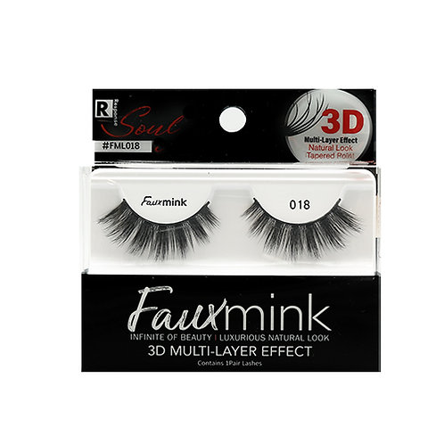 RESPONSE  3D Faux Mink Lashes 018 Black