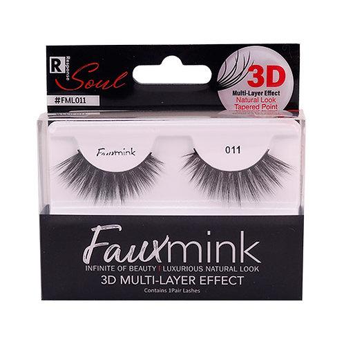 RESPONSE  3D Faux Mink Lashes 011 Black