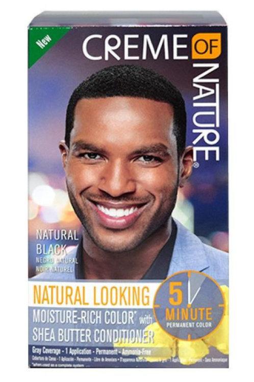 Creme of Nature Men's Hair Color - Natural Black