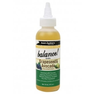 Aunt Jackie's Growth Oil Balance Grapeseed & Avocado Growth Oil 4 oz