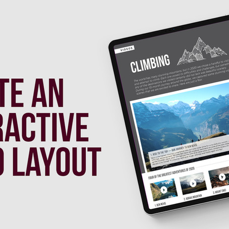 Use Object States to create an interactive video slide in Adobe InDesign