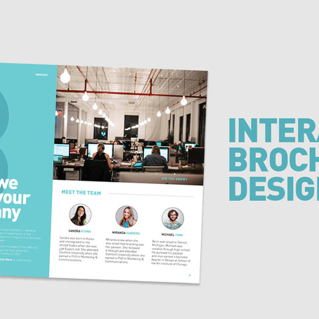 Create an interactive corporate brochure in Adobe InDesign
