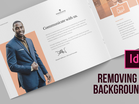 Two ways of removing a background from an image in Adobe InDesign