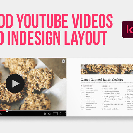 Learn how to add YouTube videos to Adobe InDesign interactive layout
