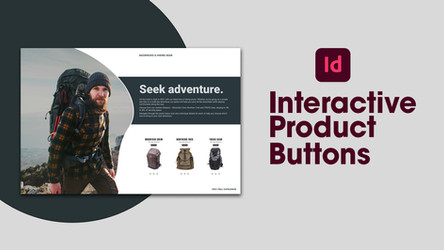 Create a digital catalogue layout with interactive product buttons in Adobe InDesign