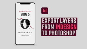 Learn how to export layers from InDesign to Photoshop and create an animated GIF