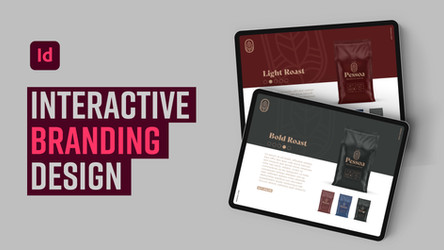 Learn how to apply interactivity to branding design projects in Adobe InDesign