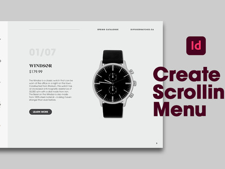 Create interactive menu buttons in a scrolling frame in Adobe InDesign