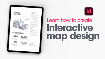 Create a digital magazine layout with interactive map in Adobe InDesign