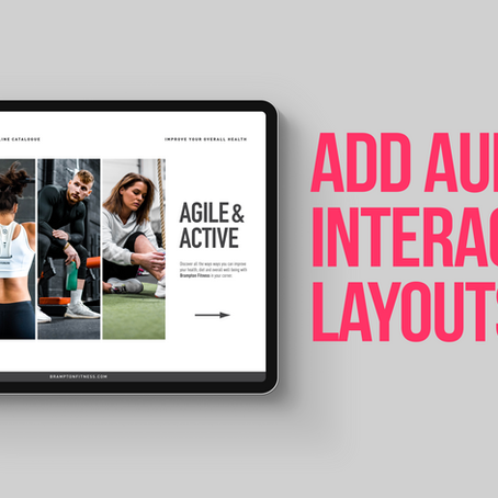 Learn how to add audio files in an Adobe InDesign interactive layout