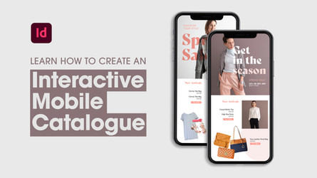 Create a mobile catalogue with interaction, scrolling frames in Adobe InDesign