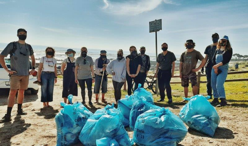AQTIVwear in Cape Town organised a beach clean up to celebrate MPA Day on 1 August at Mouille Point Beach. (Image: Supplied)
