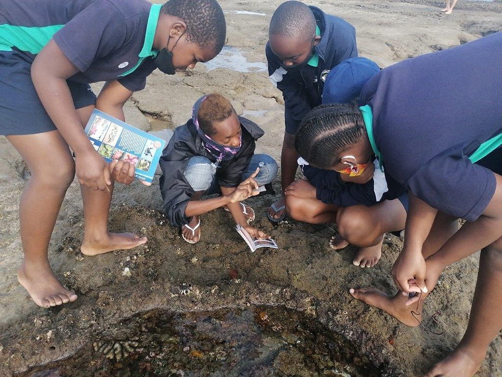 Sodwana Bay Primary school joined in the MPA Day fun with lessons conducted by Adventure Mania.