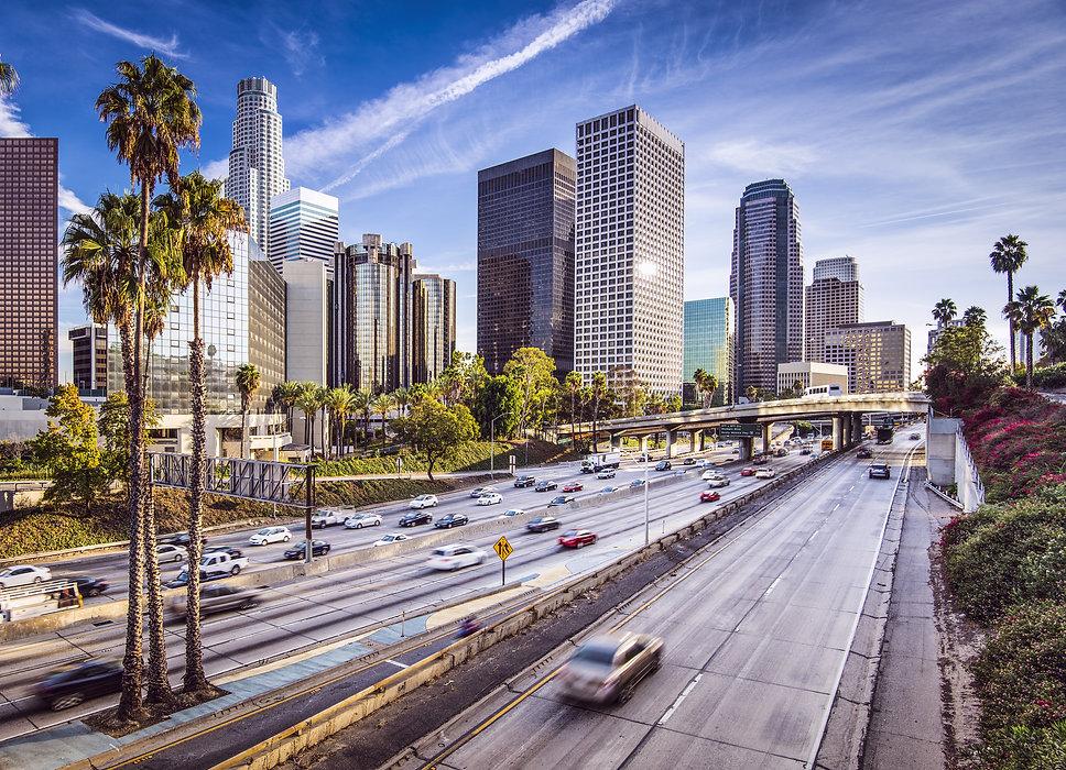 Los Angeles, California, USA downtown ci