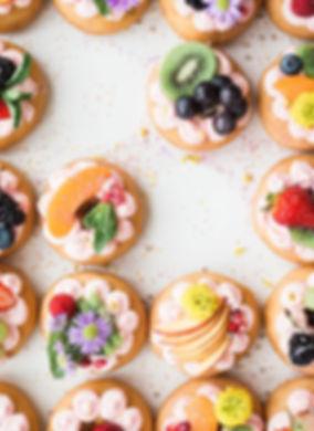 オーガニック有機ケーキ,花,果物