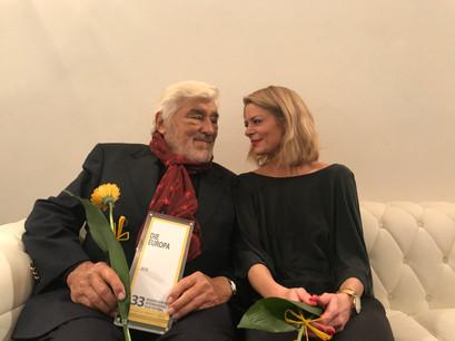 Anja Backhaus und Mario Adorf