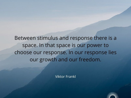 Between stimulus and response there is a space