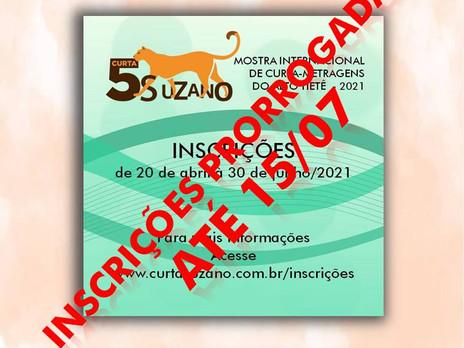 5º Curta Suzano prorroga as inscrições