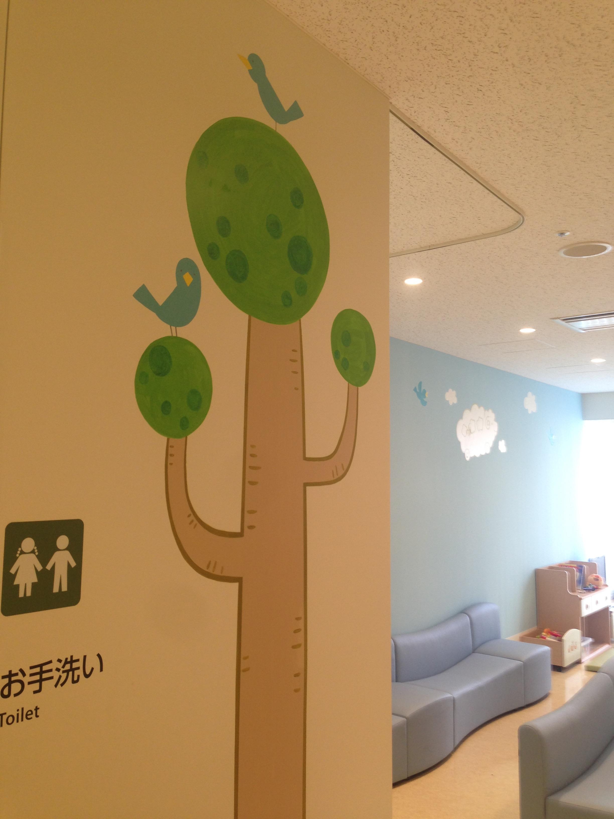 病院小児科待合室壁画(関東)