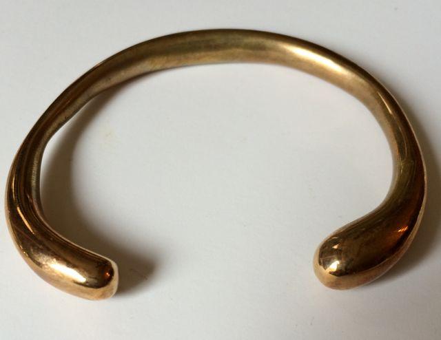 Heavy Teardrop Bangel Bracelet