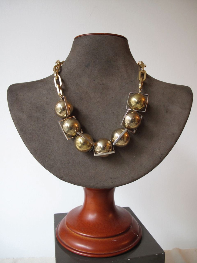 Large Gold Orbital Necklace