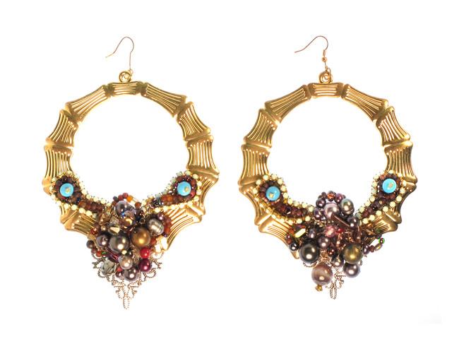 Amethyst Doorknocker Earrings