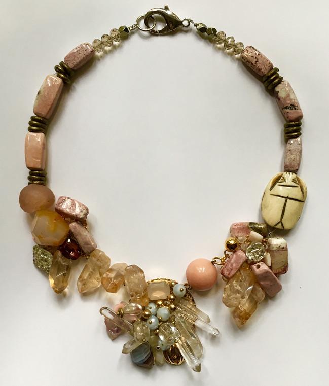 Scarab Wreath Necklace