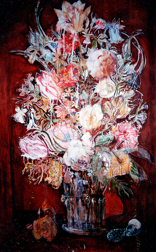 Red Baroque Floral