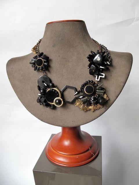 Black Velvet Button Wreath