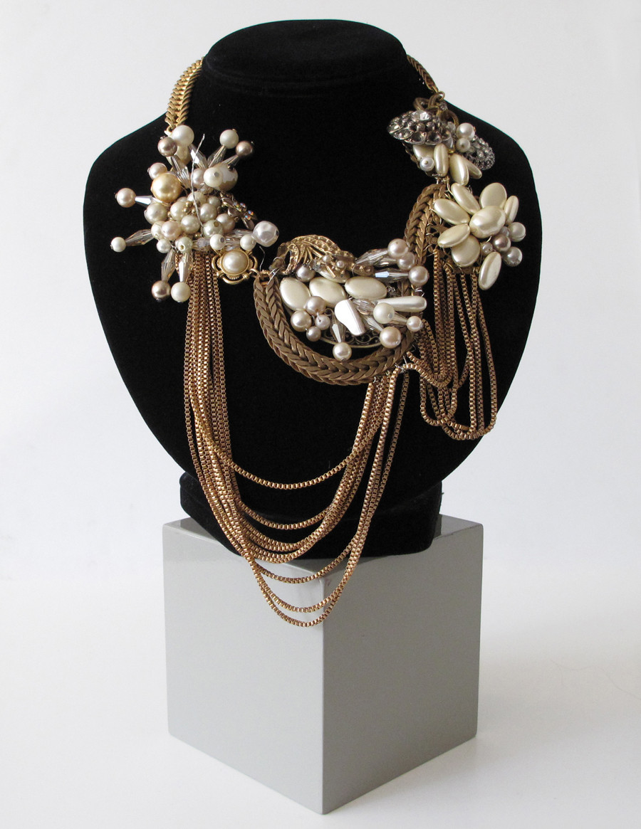 Vintage Pearl Wreath