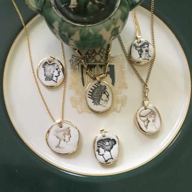 Porcelain Coin Pendants