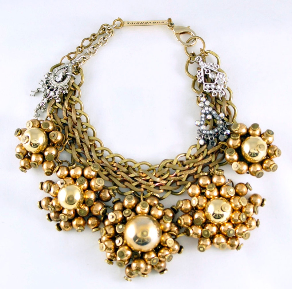 Gold Cluster Wreath
