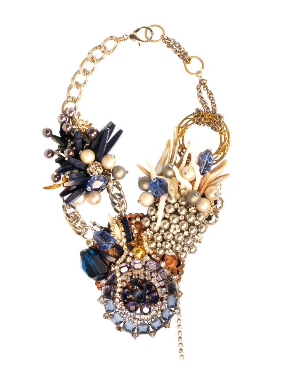 Royal Blue Wreath Necklace