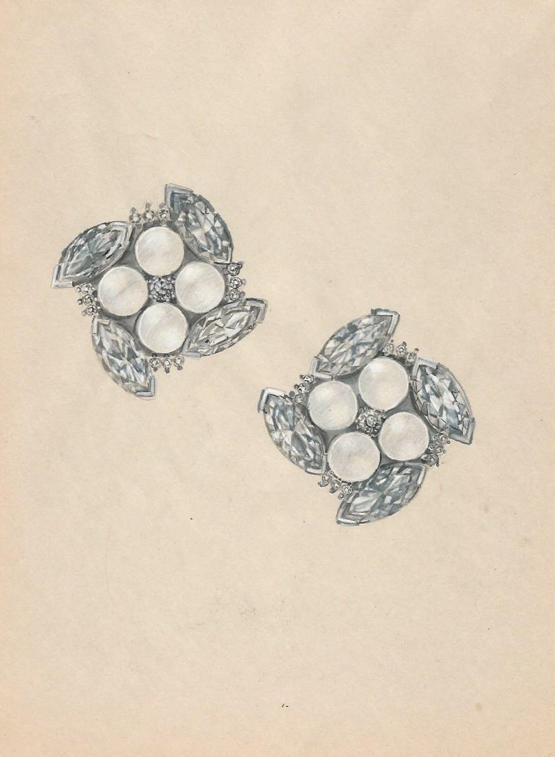 Pearl Rose Earring
