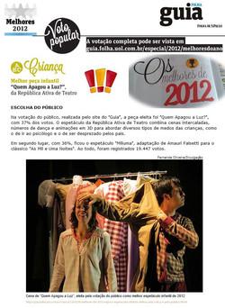 Quem Apagou a Luz - Melhores do Ano - Guia da Folha 2012  (TEATRO CACILDA BECKER)