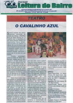 O Cavalinho Azul - Jornal Leitura do Bairro (TEATRO PAULO EIRÓ)