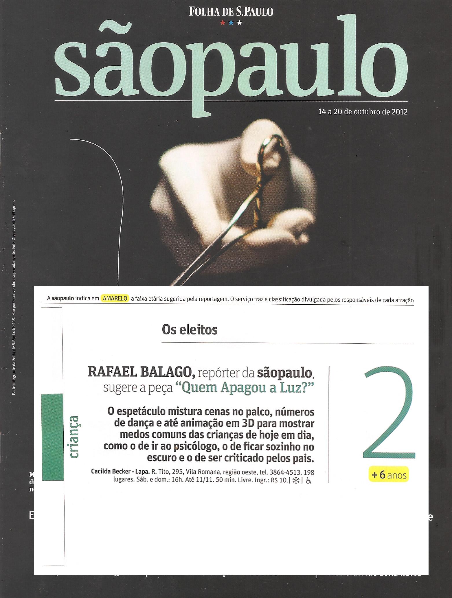 Quem Apagou a Luz - Revista da Folha (TEATRO CACILDA BECKER)